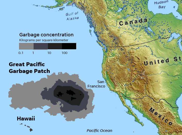 La gran isla de plástico sigue creciendo